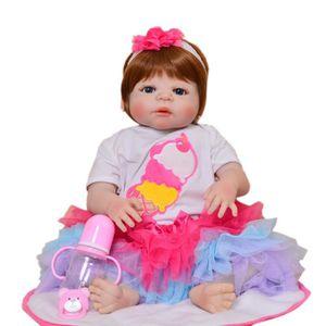POUPÉE 23pouce 57 cm Reborn bébés poupée corps entier Sil
