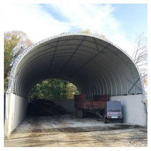 ABRI JARDIN - CHALET Bâche Camion 640 microns - Gris clair - longueur :
