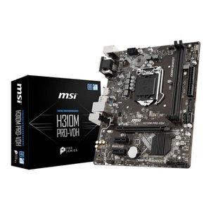 CARTE MÈRE Intel H310M Pro-VDH Carte mère MSI LGA1151 ATX