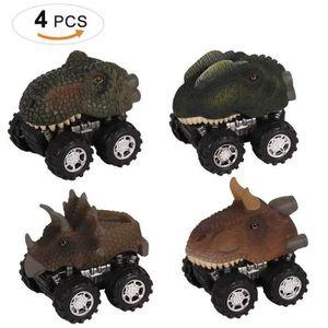 VOITURE ELECTRIQUE ENFANT Jouet Voiture Dinosaures, 4 Pièces Miniature Vehic