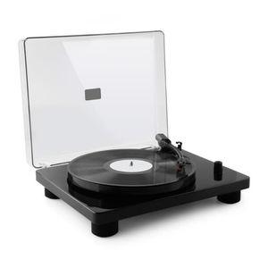 PLATINE VINYLE auna TT Classic BK - Platine tourne-disque rétro U