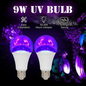 AMPOULE - LED 2PCS 9W LED UV Ampoule Violet Ampoule UV Noir Ampo