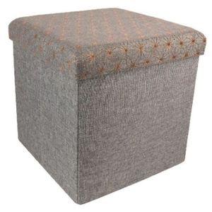 BANC Coffre banc pliable en polyester coloris gris fonc