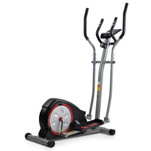 Vélo d'appartement elliptique ergonomique avec 8 niveaux de résistance et mouvement bidirectionnel