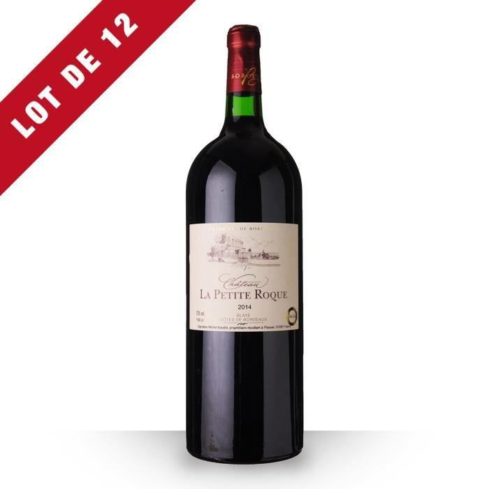 12X Château la Petite Roque 2014 Rouge 150cl AOC Côtes de Bordeaux Blaye - Vin Rouge