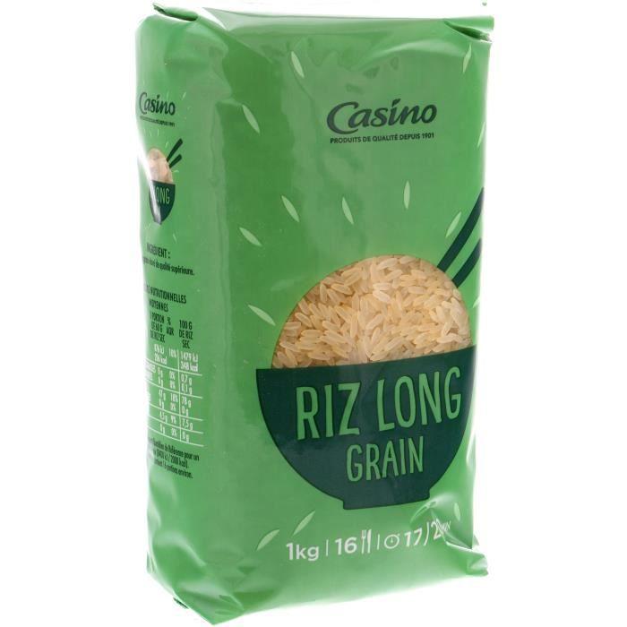 CASINO Riz Long Grain Etuve 17 min - 1Kg