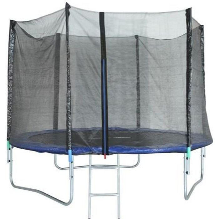 Trampoline 305 cm Noir TRIGANO Échelle et filet de protection inclus