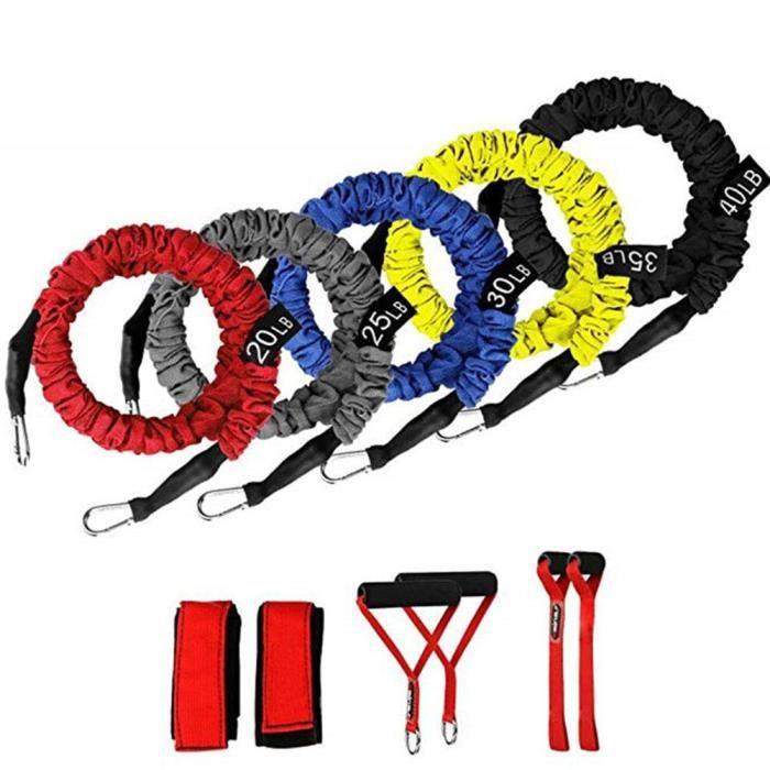 11 pièces-ensemble Fitness traction corde bandes de résistance Latex force équipement de gymnastique exer - HSJSTLDB06808