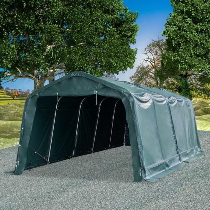 🐳5766Tonnelle de Jardin -Tente amovible pour bétail Auvent d'Extérieur Tente d'Elevage Abri d'Etable Pâturage - PVC 550 g-m² 3,3 x