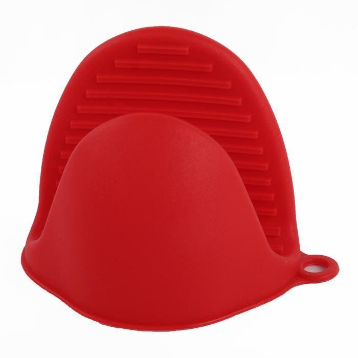 Mitaines de cuisson résistant à la chaleur 2 pièces Mini four en Silicone porte Pot pinces de cuisson pour la - Type 2PCS Red