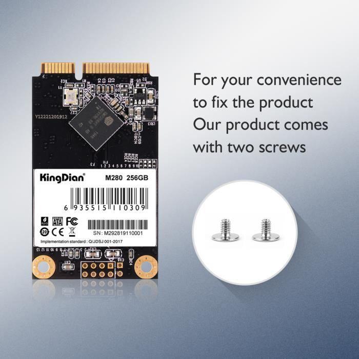 mSATA SSD 1 To Mini SATA SSD Disque dur interne pour ordinateur portable pour Dell ThinkPad