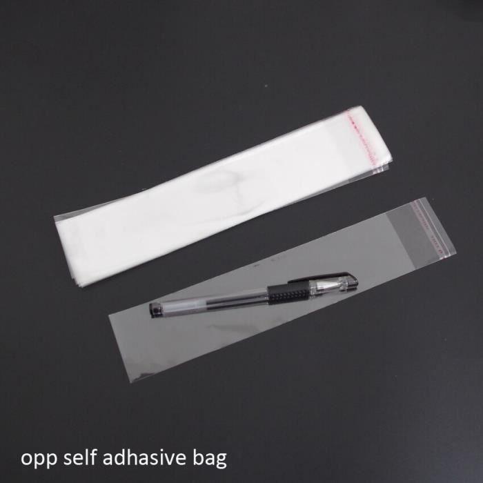 Papier Alimentaire,2018 vente 1000 pièces clair refermable Bopp-poly-cellophane sacs 3x14 + 3cm Transparent Opp cadeau emballage