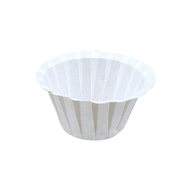 Café Filtres,Machine à café filtre en papier blanc 50 pièces-ensemble, filtre à café blanc, Machine à café en papier - Type White
