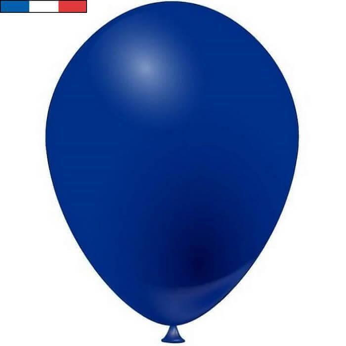 Ballon latex naturel opaque français bleu marine (x50) REF/51704