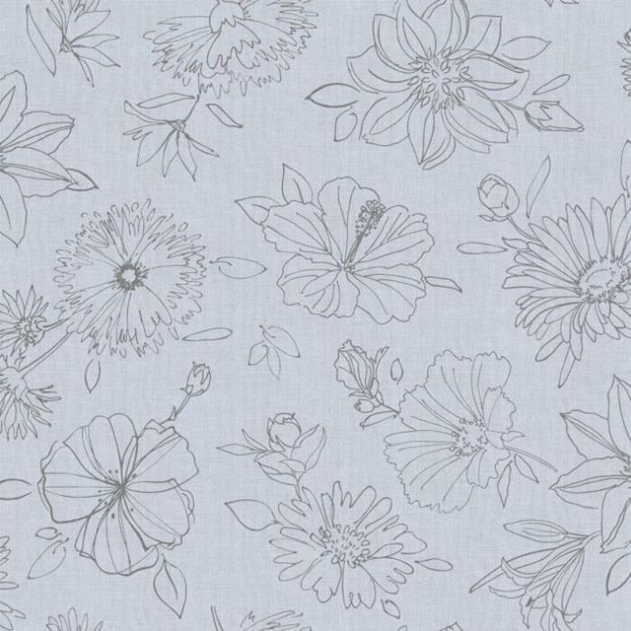 D-C-TABLE - Nappe ovale manhattan palmas gris 150x250cm
