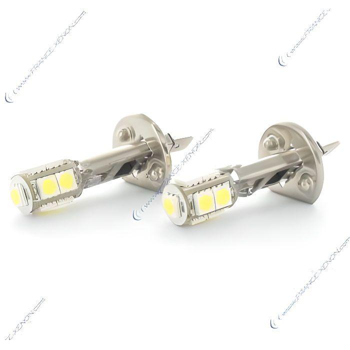 2 x Ampoules H1 LED SMD 9 LED