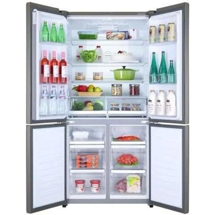 HAIER HTF-610DM7 - Réfrigérateur congélateur - Multi-portes - 610L (430+180) - Total No Frost - A++ - Inox