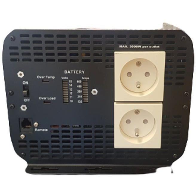 Convertisseur de tension 12/220V 5000W avec télécommande 5M