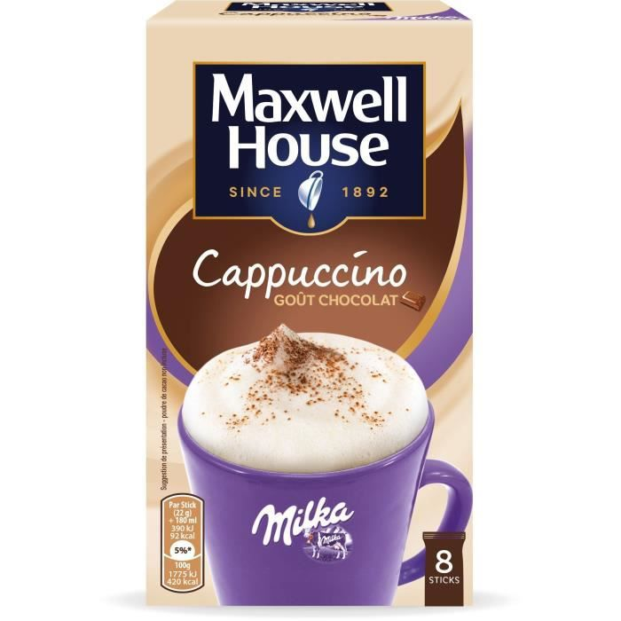 Maxwell House Cappucino Milka Soluble en sticks x9