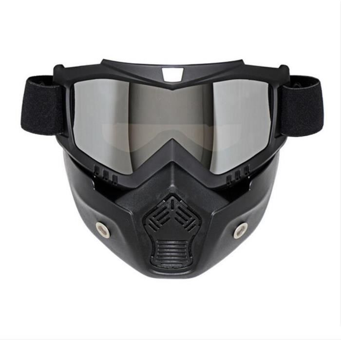3pcs Masque de lentille en argent pour Casque de motocross