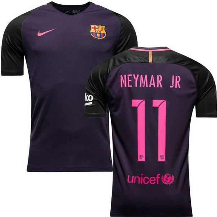 Maillot Officiel Nike Enfant FC Barcelone Away Flockage Officiel Neymar Numéro 11 Saison 2016-2017
