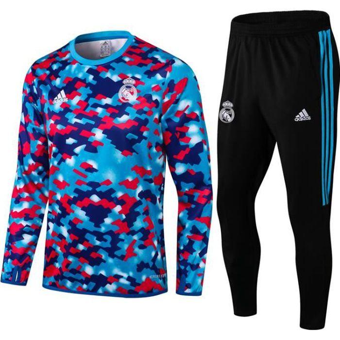 Nouveau Survêtement Reals Madrids Maillot de Foot Survet Kit 2021 2022 Pas Cher pour Homme