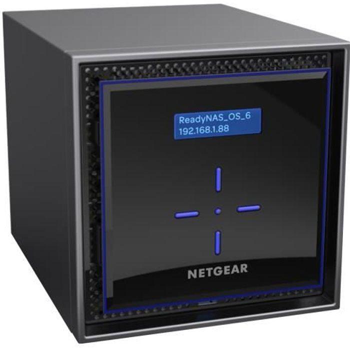 NETGEAR Serveur ReadyNAS 424 - NAS 4 baies - 8 To 4 baies hot swap pour disques durs SATA/SSD 2.5 ou 3.5 - Modèle livré 4 x 2 to Des