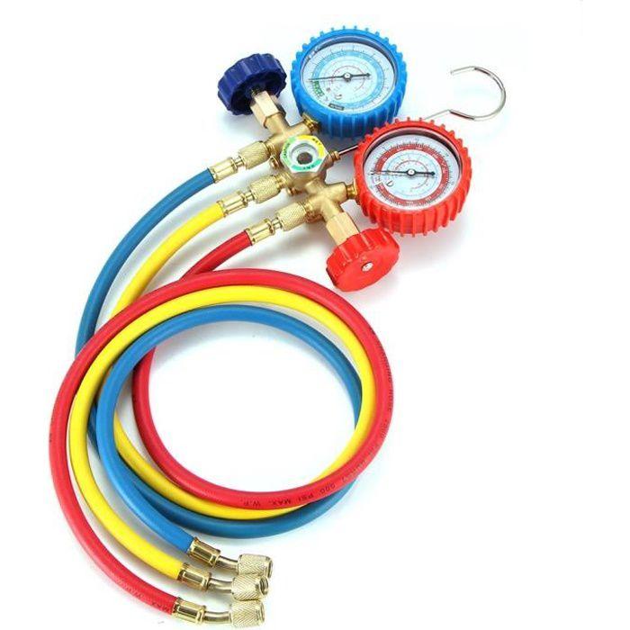 jauge de collecteur charge de réfrigération CVC A/C pour R12 R22 R134a R502