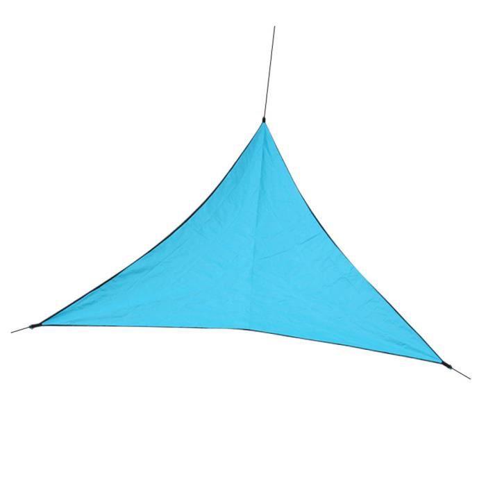 CR Voile d'ombrage Toile Solaire Triangulaire -3 x 3x 3 M avec Longue Corde 3*2M Imperméable et Résistante, pour Jardin Terrasse