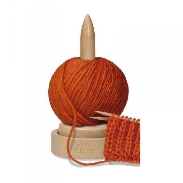 Support bois pour pelote de laine