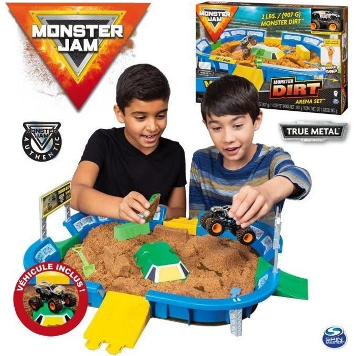 MONSTER JAM Playset Dirt Arena - Echelle 1:64