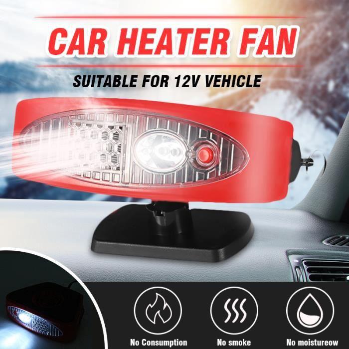 TEMPSA Ventilateur Chauffage de Voiture 12V 150W Avec Poignée Lampe Pare-Brise Dégivreur