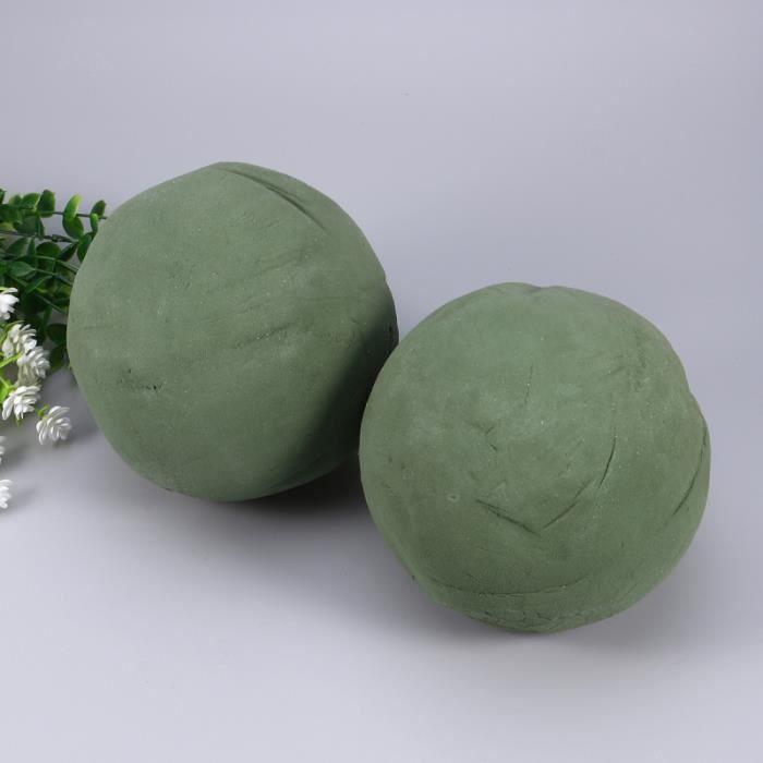2pcs mousse florale sphère fleur boule de fournitures de fleuriste pour la maison jardin décoration de JARDINIERE - BAC A FLEUR