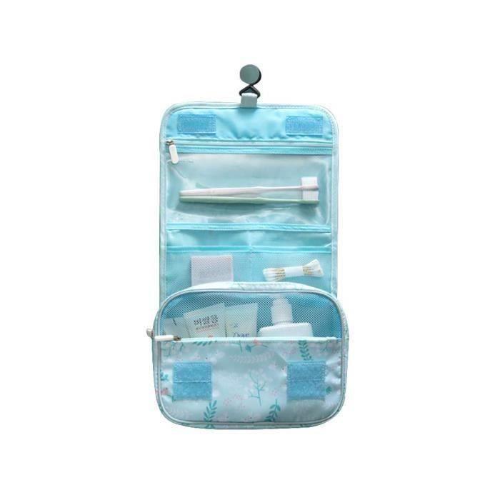 Wu@ Trousse de Toilette Pliable Suspension Cosmétique sion Cosmétique Maquillage Pochette Trousse De Toilette Wash Organizer #2