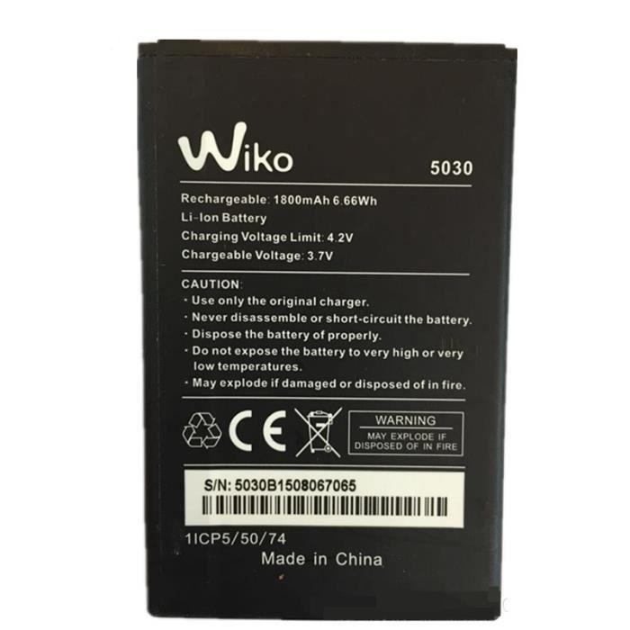 Wiko 5030 Batterie origine batterie de lithium 1800mah