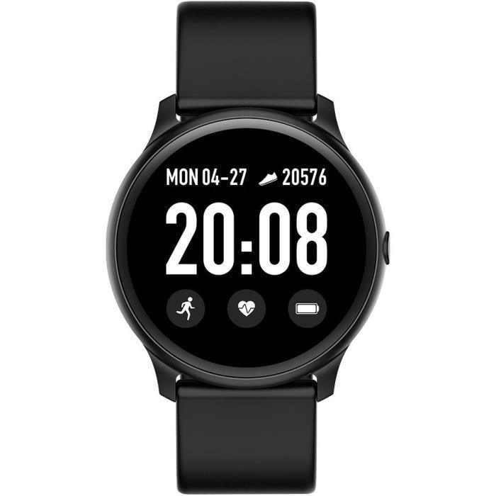 WEE'PLUG Smartfit Montre connectée - Smartwatch élégante - Multisports - Cardio - Bluetooth - Waterproof - Noir