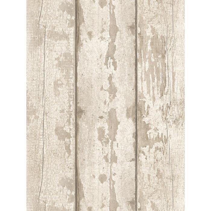 Large Planche De Papier Peint Panneau en Bois Effet Marron Beige rustique non-tissé Fine Decor