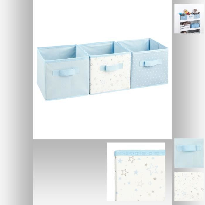 cube de rangement bleu achat vente cube de rangement. Black Bedroom Furniture Sets. Home Design Ideas