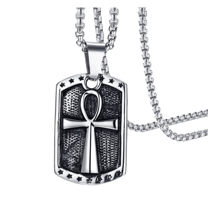 collier homme ankh