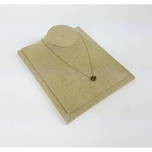 Buste bijoux en coton beige naturel de 24cm pour cha/înes 9180