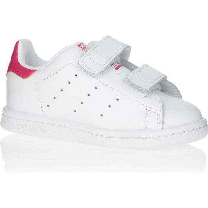 official site entire collection elegant shoes ADIDAS ORIGINALS Baskets Stan Smith Bébé Fille Blanc et rose ...