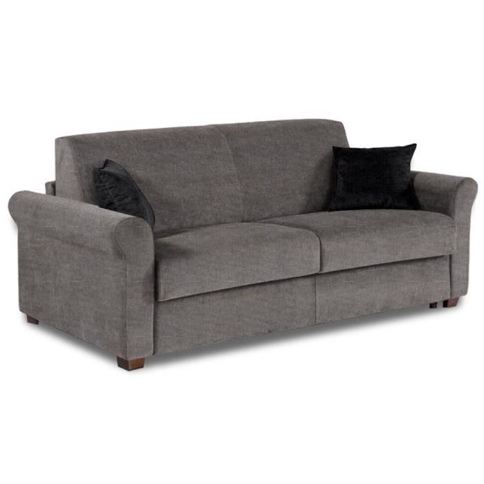 Canap lit 3 places romantico convertible rapido 140 195 14cm couchage quotid - Canape lit 3 places convertible ...