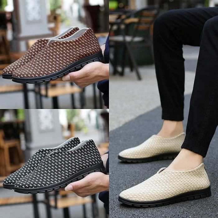 Antidérapante Casual Hommes Slip-on Chaussures plates