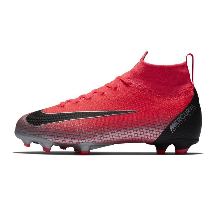 26b852d478f Chaussures football Nike Mercurial Superfly 360 VI Elite CR7 DF FG Rouge  Junior