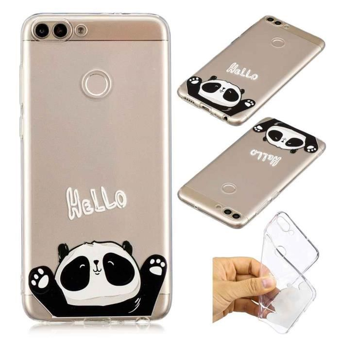coque huawei p smart silicone transparent