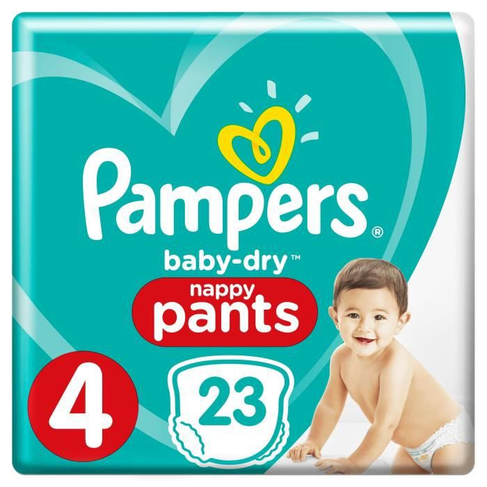 Pampers baby dry pants taille 4 8 15kg x23 couches achat - Prix couches pampers baby dry taille 4 ...