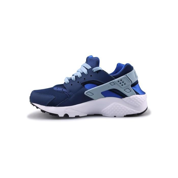Basket Nike Huarache Run Junior Bleu 654275-406