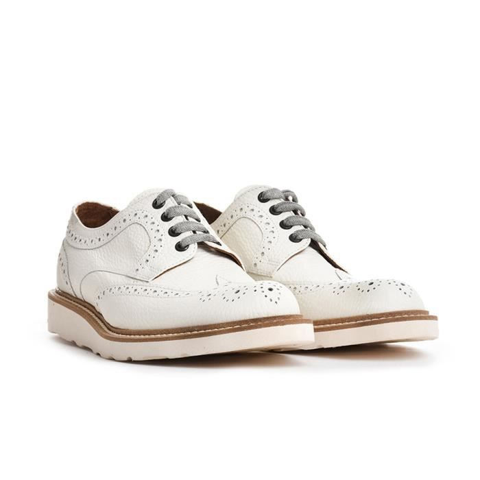 ELEVENTY HOMME 979SR0017SCA190031 BLANC CUIR CHAUSSURES À LACETS