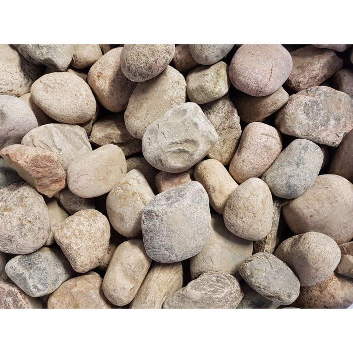 Acheter Gravier Pour Allée 25 kg gravier de rivière 8-20 cm cailloux granitiques