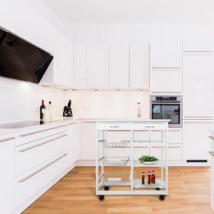 DESSERTE - BILLOT Desserte de cuisine -2 tiroirs -Étagère à 6 grille